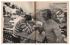 1972 DOCUMENT (ref PA  1186) SPORT : SKI  J.O KARL SCHRANZ HENRI DUVILLARD  2p