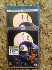 The Nightmare Before Christmas 3D(Blu-ray/DVD,2011,3-Disc,Digital)NEW Authentic