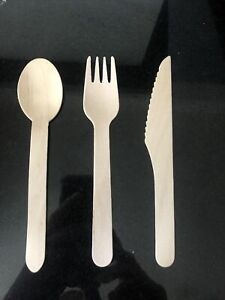 Sustainable wooden cutlery Set X 10