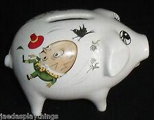 """Surrey Ceramics England Piggy Coin Bank 3"""" HUMPTY DUMPTY & MISS MUFFET"""