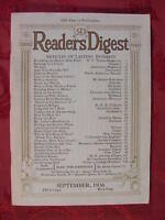 Readers Digest September 1936 James Truslow Adams Emily Post Max Beerbohm
