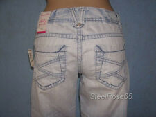 New Aeropostale Junior Girls Hailey Skinny Flare Denim Lt Wash Blue Jeans 9/10 L