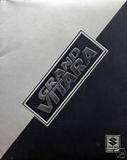 1999 Suzuki Grand Vitara/Vitara SUV press kit folder