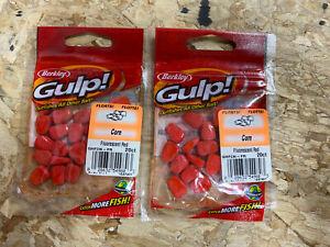Berkley Gulp! Corn Fluorescent Red GHFCN-FR Catch More Fish 20 Pack- Set Of 2