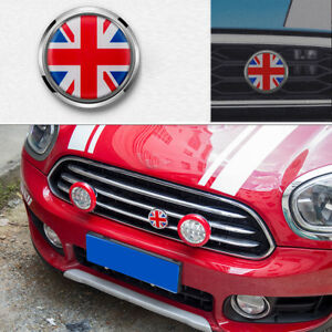 Red Union Jack UK British Metal Auto Car Truck Front Grille Badge Emblems Decal