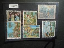 MONACO 1974 dipinti IMPRESSIONISTI (6v Set) (SG 1126-1131) Gomma integra, non linguellato