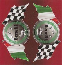 "Sticker "" BENELLI "" 68mm x 65mm BIC Lighter"