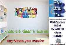 Disney Princesses wall sticker children's bedroom Personalized Any Name large.