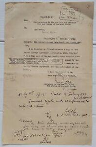 India 1942 The Indian Coinage Amendment Ordinance