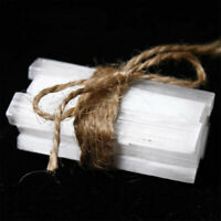 10pcs Natural Selenite Rough Stick Crystal Wand Minerals Specimen Healing St UM!