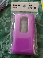 OEM Original HTC Hard Shell Snap On Case Cover for Sprint HTC EVO 3D – Purple