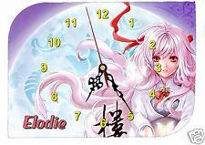 horloge pendule murale fille manga prénom choix réf F 28