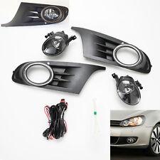 Clear Lens Fog Lights Set For 2010-2014 Volkswagen VW Jetta Wagen Sprotwagen