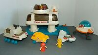 1984 Playworld Playmates Space Station 2 Figures, 4 vehicles