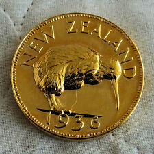 EDWARD VIII NEW ZEALAND 1936 BRONZE GILT PROOF PATTERN CROWN