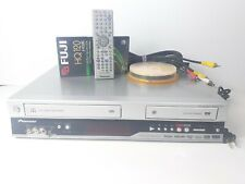 Pioneer DVR-RT502-S DVD-R VHS VCR Combo Player Recorder Dubbing WMA MP3 Tested