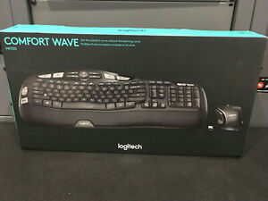 NEW Wireless Logitech Mk550 Wave Wireless Keyboard/Mouse Combo Comfort Curve