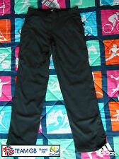 "ADIDAS TEAM GB RIO 2016 ATHLETE CLIMAPROOF LINED WINTER PANTS Size 12, 30"" Waist"