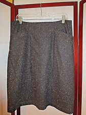 THEORY WOOL ANOREL SKIRT, Black multi, Size 8 *NEW*