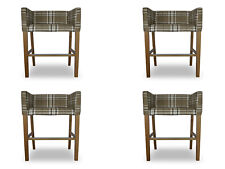 4x bar Stool Corner Chair Chairs Stool Counter Chair Pads Set Check Design