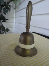 Vintage Kitchen Brass dinner Bell Mother of Pearl inlay India Bed Bath Decor