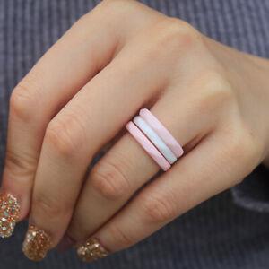10Pcs Silicone Wedding Engagement Ring Men Women Rubber Band Gym Sport Flexible