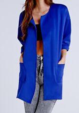 Girls on Film Blue Scuba Open Front Jacket Blazer Size 8/XS RRP £38