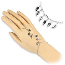 Coolbodyart Damen Armband Sklavenarmband mit Blätter Charm rhodiniert CBASLB-11