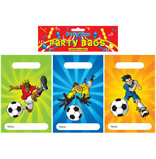 Plastic Football Theme Party Bags Childrens Kids Goody Pinnata Fillers Birthday 12