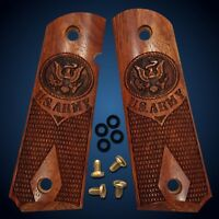 1911 Grips Full Size & Commander Colt S&W Rock Island Solid Rosewood  U.S. Army