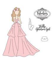 Prima Julie Nutting Scarlett Doll Stamp Set Beauty Fashion Glamour Phrases