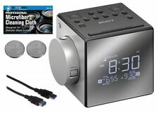 Sony ICF-C1PJ Alarm Clock with LED Display, AM/FM Radio, Extra Batteries + Cable