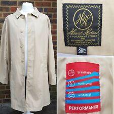 Harvie & Hudson Vintage sobre Abrigo para hombre 3XL Beige