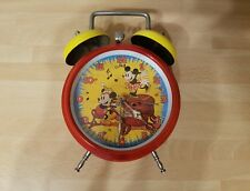 Vintage Alarm Clock Mickey & Minnie Mouse 1988 The Walt Disney Company
