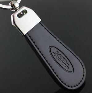 LG114 Black PU Leather Drop Keyring For Land Rover Car Logo Key Ring Keychain