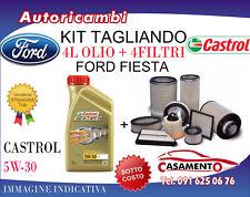 KIT TAGLIANDO FORD FIESTA 1.5 TDCI 70KW - 4 FILTRI + 4L OLIO CASTROL 5W30