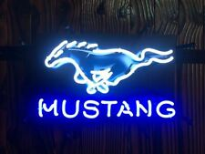 Neon Sign - Mustang Horse w/Backing Board * Affordable, Quality * FREE US SHIP
