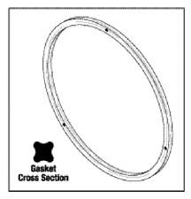 Door Gasket (Quad Ring) for National Appliance 704-7000 OEM #34002877 #NAG002