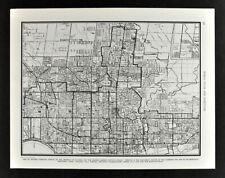 1938 Collier Atlas Map Toronto City Plan Ontario Canada Downtown Parks Landmarks