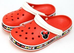 NEW Disney Parks X Crocs Crocband Minnie Mouse III Red Clog Shoe