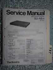 Technics SU-A8 service manual original repair book stereo dc amp amplifier
