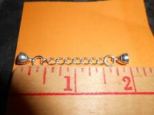 Extender USA made Silver adds 2 inches to any Barrel Clasp Magnet close Necklace