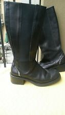 Harley Davidson black leather tall combat motorcycle boots 8y/9.5