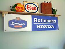 Rothmans Honda Racing PVC Workshop banner per garage/officina o l'uso a terra