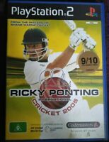 Ricky Ponting International Cricket 2005 PS2 Playstation 2 Complete PAL Free Shi