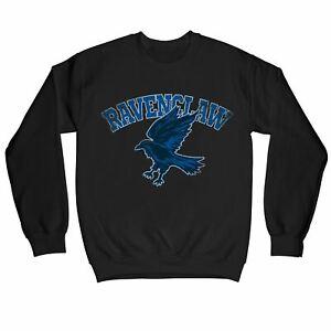 Harry Potter Distressed Ravenclaw Raven Children's Unisex Black Sweatshirt