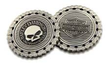 Harley-Davidson Skull / Bar & Shield Chain Challenge Coin, 1.75 inch 8005184