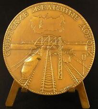 Médaille Soviets Railways Chemins de fer soviétiques c 1970 60mm USSR URSS medal
