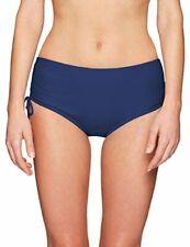 24th & Ocean Women's Swimsuit High Waist Hipster Bikini Bottom Blue Size S XL