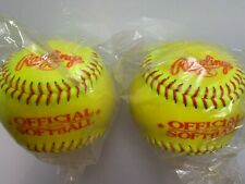 "Rawlings Official Softball 2 Pak Composite Cover 11"" Asa .47 Poly Cor Neon Yel"